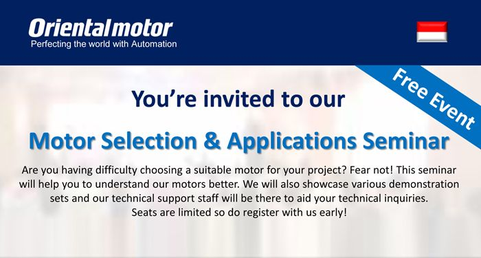 Motor Selection & Applications Seminar